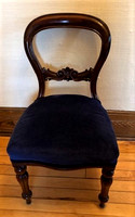 Set Of (6) Solid Rosewood Victorian Dining Chairs