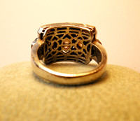 Vintage-Diamond-Cluster-18K-Gold-Ring